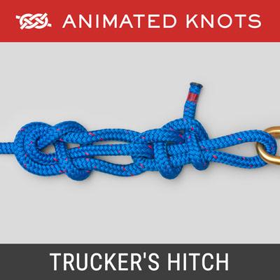 trucker\u0027s hitch how to tie a trucker\u0027s hitch using step by steptrucker\u0027s hitch how to tie a trucker\u0027s hitch using step by step animations animated knots by grog